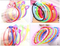 Headbands Chemical Fiber Geometric Luminous Bracelet or Hair ties Silicone Elastic for kid girls woman night glow rubber band glitter kid hair accessory pony tail holder