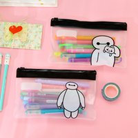 Wholesale Cute Pencil Cases For Girls - Wholesale- Cute The Big Hero 6 The Baymax Pen Bag Storage Organizer Bag Stationery Bag FOD school pencil case for girls boys