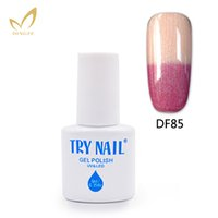 Wholesale Temperature Changing Nail Varnish - Wholesale- TRY NAIL Gel 6ml Gel Nail Polish Chameleon Temperature Color Changing Nail Polish Thermal Color Change UV Varnishes Gel Lacquer