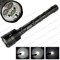 TR-3T6 Lampes de poche LED 3800 LM Lampes de poche Tactical Waterproof Cree Torch Lights for Camping Fishing with Retail Package MYYM