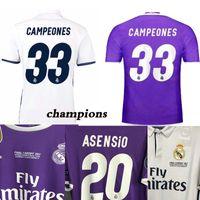 Wholesale Jersey Shorts For Men Football - 2016 2017 Champions League Finals Soccer Jersey 16 17 Real Madrid away Purple Soccer Jerseys for 3 Jun Ronaldo Football uniform