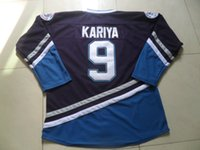 maglia di hockey di riflessione Mighty Ducks Mezzo di film # 9 Paul Kariya cucito Retro hockey jersey