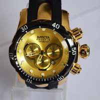 Wholesale All Dials Working Multifunctional Sports Watches INVICTA Mens Watches Gold Fashion Large Male Wristwatch Date Calendar Waterproof Time Clock