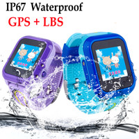 DF27 IP67 imperméable à l'eau bébé bébé GPS téléphone intelligent Swim SOS Call Location Device Tracker Kids Safe Anti-Lost Monitor