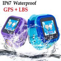 ingrosso bambini di mele-DF27 IP67 Impermeabile per bambini GPS GPS telefono intelligente orologio SOS Chiamata posizione dispositivo Tracker per bambini sicuro monitor anti-perso