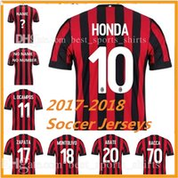 Wholesale Thai quality soccer jersey Honda MENEZ BACCA KAKA EL SHAARAWY home away football shirt pice shipping DHL EMS