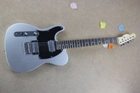 Wholesale Orange Left Handed Electric Guitar - free shipping HOT Wholesale Top quality custom 6 Strings Left Hand F Telecaster silver Electric Guitar