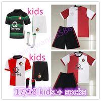 Wholesale Kids Socks New - Top Quality kids + socks 2017 2018 Feyenoord Rotterdam Football Shirt 17 18 New Kuyt Lex Immers Simon Kramer Home away Soccer Jersey