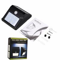 Wholesale free light solar - Solar Lamp 12LED Solar Power PIR Motion Sensor Wall Light Outdoor Waterproof Garden FEDEX DHL Free Shipping