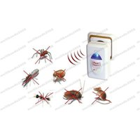 Wholesale Cockroach Traps - 2017 NEW Ultrasonic Electronic Rat Cockroach Rat Spider Pest Bug Mosquito Repeller Reject FREE SHIPPING MYY