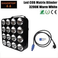Wholesale auto dot - Freeshipping TIPTOP TP-M16 WHITE Warm White Led Dot Matrix Light 16 * 30W COB Lamp DMX 32 16 12 3 DMX channels blinder stage light