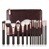 Wholesale Low Price Makeup Brushes - LOWEST PRICE!Z MAKEUP BRUSH SET Professional Luxury Set Make Up Tools Kit Z 15 PCS ROSE GOLDEN Powder Blending brushes free epacket