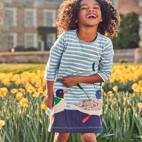 Wholesale Dot Jersey - Kids Dresses for Girls Clothes Autumn Brand Baby Girls Cotton Dress Animal Applique Tunic Children Jersey Dress Princess Vestido