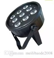 Wholesale Dj Led Light Used - Newest 9pcs*12W RGBW 4IN1 high power led par light with DMX use for DJ Stage light DISCO CLUB MYY