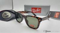 Wholesale Pink Wayfarer Sunglasses - New Cat Eye Wayfarers RAY Sunglasses Men Women Vintage 50mm Brand Sun Glasses Bands Mirror Gafas de sol BANS BEN 2140 with cases