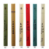 Wholesale Oriental Boxes - Wholesale- 1Pc Sticks Box Natural Sandalwood Oriental Buddha Buddhist Aromatic Line Incense