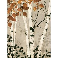 Wholesale Art Birch - custom photo wallpapers tree Art Wall Mural Home decor Wall for porch corridor living room White birch wall paper