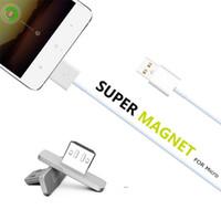 ingrosso cavo dati apple iphone-Cavo usb per dati magnetici 2 in 1 per Android Cavo di sincronizzazione micro USB per illuminazione LED di ricarica