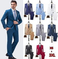 Wholesale Single Button Suits Men - The High Quality Spring 2017 Business and Leisure Suit A Two-piece Suit The Groom's Best Man Wedding 8 Colors
