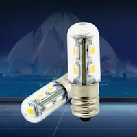 yatak odası spotları toptan satış-Yüksek Kaliteli E14 1 W 5050 SMD 7 LED Beyaz Sıcak Beyaz Mısır Işıkları Yatak Dolabı Mum Lamba Spot Yatak Odası Ampul