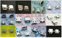 Wholesale Micro 5pin Usb Connector - 120pc 10pcs each for 12 kind Micro USB 5Pin jack tail sockect micro usb Connector port sockect for samsung Lenovo Huawei ZTE HTC