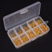 Wholesale Fish Tackle Boxes - 500pcs bag 10 Sizes 3# -12# Carbon Steel Fish Jig Hooks with Hole Carp Fishing Hook with Tackle Box Gold Black