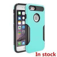 Wholesale Green Carbon Fiber - Hybrid Armor Case For iphone x 6 7 8 plus For galaxy note 8 S8 plus J7 PRO Carbon Fiber Captain Case