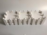 ingrosso decorazione di recinto bianco-D10 * H7CM / D4 * H2.8 pollici Bianco fioriera recinzione in legno Legno Pot Mini Recinzione Piccola Recinzione Decorazione Della Casa SF-085