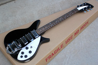 Wholesale Can Scale - Black Electric Guitar with White Pickgaurd,3 Humbucker Pickups,5 Knobs,527mm Scale Length,can be Changed