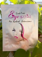 Wholesale Lint Free Eye Gel Patches - Collagen eye masks Lint Free Under Eye Gel Pad Patch False Eyelashes Lint Free Eye Gel Patch Eyelash For Extension Makeup 7.6x2.9cm Free DHL
