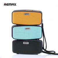Wholesale Mobile Bag Mp3 - Subwoofers REMAX RM-M1 Portable Bluetooth Speakers Super Bass With Mic Mini Bag Speaker support TF Card FM Radio For iPhone Samsung iPad