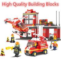 Wholesale Blocks Brick M38 - 2016 High Quality City Fire Station Building Blocks Toys For Children Firefighter Minifigures Hobby DIY Model Brick Toys M38-B0225 1 371pcs