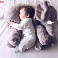 Big Infant Sleep Pillow Soft Cushion Hot Elephant Playmate Calm Doll Bébé Jouets Elephant Pillow Peluche Toy Stuffed Doll Girl Gift SVM030775