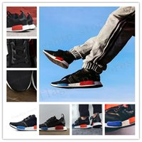 Wholesale Mens Fashion Winter Leather Shoes - On Sale Black NMD R1 Primeknit PK Perfect Authentic Running Sneakers Womens Fashion Running Shoes Mens NMD Runner Primeknit Sneakers
