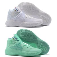 Wholesale Sail Shoes Men - (With Original Box)Free Shipping 2017 Kyrie 2 What The Sail Green Glow Mens Basketball Shoes Sports Sneakers
