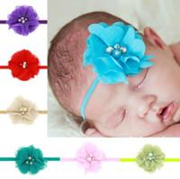 модель цветка оптовых-Новый новый ручной сшитые цветок цветок дети оголовье baby baby волос группа оголовье взрыва модели tg148 Mix порядка 30 штук много