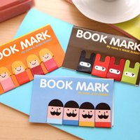 Wholesale Super Cute Rabbit - Wholesale- 4Pcs Pack New Korean Stationery Super Cute Kawaii Boys And Girls Magnetic Bookmark School Office Kids Ninja Rabbit H0121