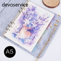 Wholesale Index Book - Wholesale- 2017 New Arrival 5Pcs Set A5 A6 Deer Design Notebook Index Page Retro Planner Inner Slip Sheet Matte Spiral Book Category Pages