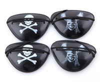 Wholesale kids eye patches - New Christmas Halloween Costume Kids Toy Eye Patch Blindage accessories pirate One-eye Pirate Eye Patch Mask with Flexible Rope