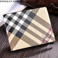 Wholesale Red Stripe Pillow - Nice- TONGLUN MOBEI Men Wallets Vintage Striped Designer Mens Wallet Quality Leather Short Bifold Male Purse Bags Portefeuille Homme
