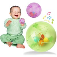 Wholesale Funny Baby Rattles - Wholesale- kids baby toddlers funny ball toy rattles bell control ability training