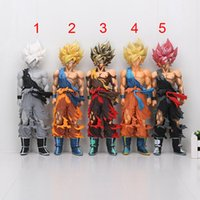5 styles 34cm Dragon Ball Z Grande taille Son Goku Super Saiyan PVC Action Figure Collectible Modèle Toy Doll Birthday Gift