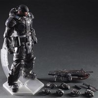 Wholesale Mario Play Game - 27cm Play Arts Kai PA Marcus Fenix Game Gears of War 3 War Machine Action Figure Collection Model Toy Free Shipping