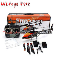 Wholesale Helicopter Radio Control Outdoor - Free shipping Large rc Helicopter Wl toy v912 2.4g 4ch , outdoor Single-propeller helicopter, remote control Aeromodelling