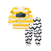 Wholesale Yellow Minion Kids T Shirts - Children Spring Clothing Sets Cartoon Bear Bunny Monkey Captain Minions For Boys Girls Kids Clothes T-shirt Pants Two Pieces Kid