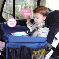Wholesale Standing Laptop Tray - Multifunctional Baby Car Play Tray Table Waterproof On The Go Snack Tray Easy to clean Automobile Laptop Stand