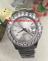 Wholesale W Watches - Luxury Watches White Gold W  Mens Bigger Diamond & Ceramic Bezel 41MM Automatic Mechanical Men Watch Wristwatch