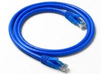 Wholesale Utp Patch - Blue Network computer cable Gold Plated 1.5M 5FT RJ45 cat6 utp Ethernet Network Patch Cable 100pcs