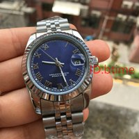Wholesale Folding Shopping - Big sell luxury brand men automatic day date Mechanical watches Stainless steel bezel sapphire glass dezel male Wristwatches free shopping.