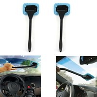 ingrosso lucentezza automatica-Pulitore per finestra auto in microfibra Pulitore per parabrezza Fast Easy Shine Brush Strumento di pulizia a portata di mano